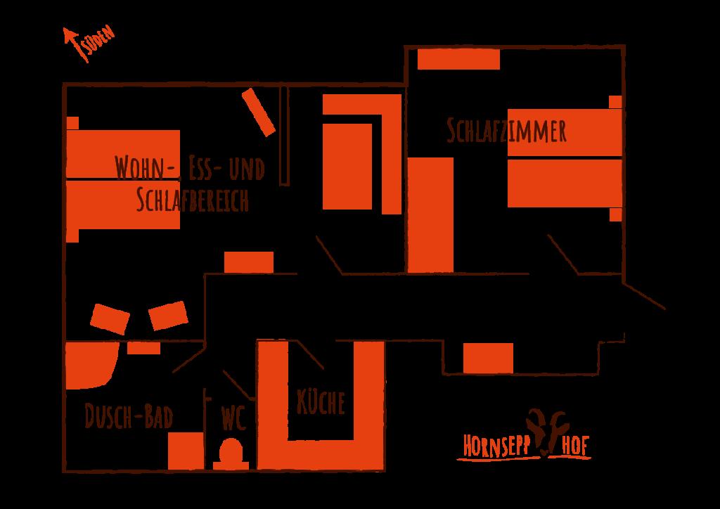 Ferienwohnung Hornsepp-Hof - Grundriss