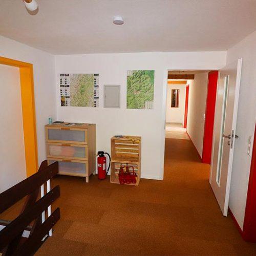 Eingangsbereich in die Wohnung im 1. OG